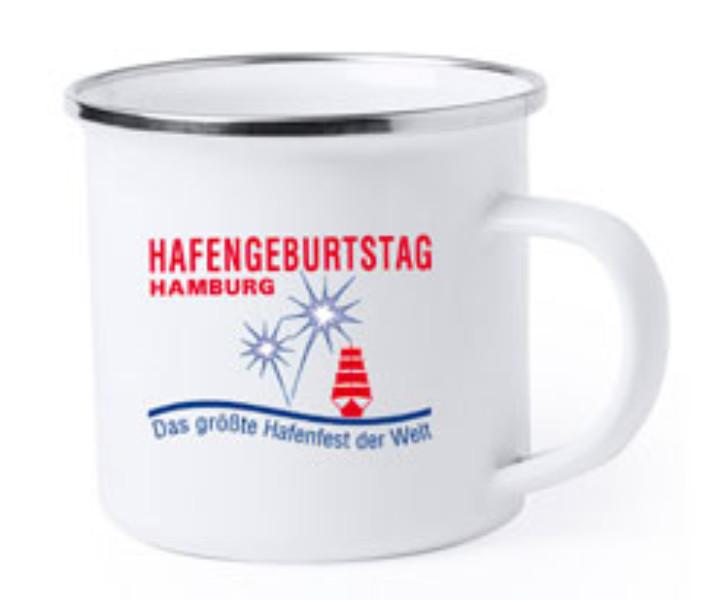 Emaille Becher  HAFENGEBURTSTAG HAMBURG